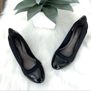 LIFE STRIDE Juliana Stretch Black Patent Leather 6